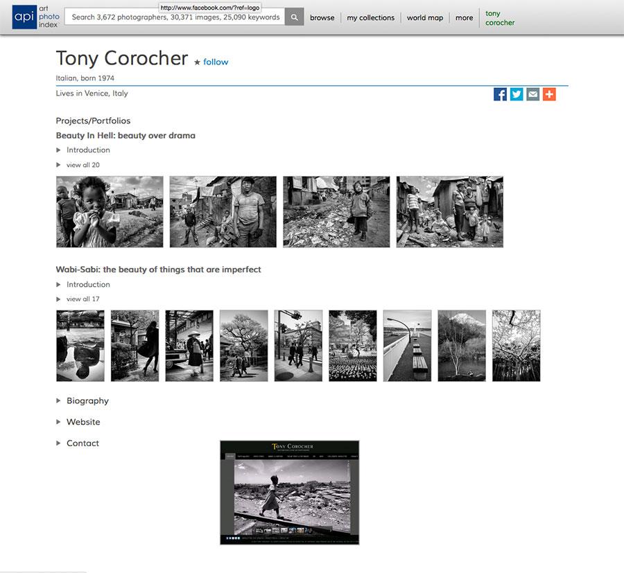 Art Photo Index - Tony Corocher