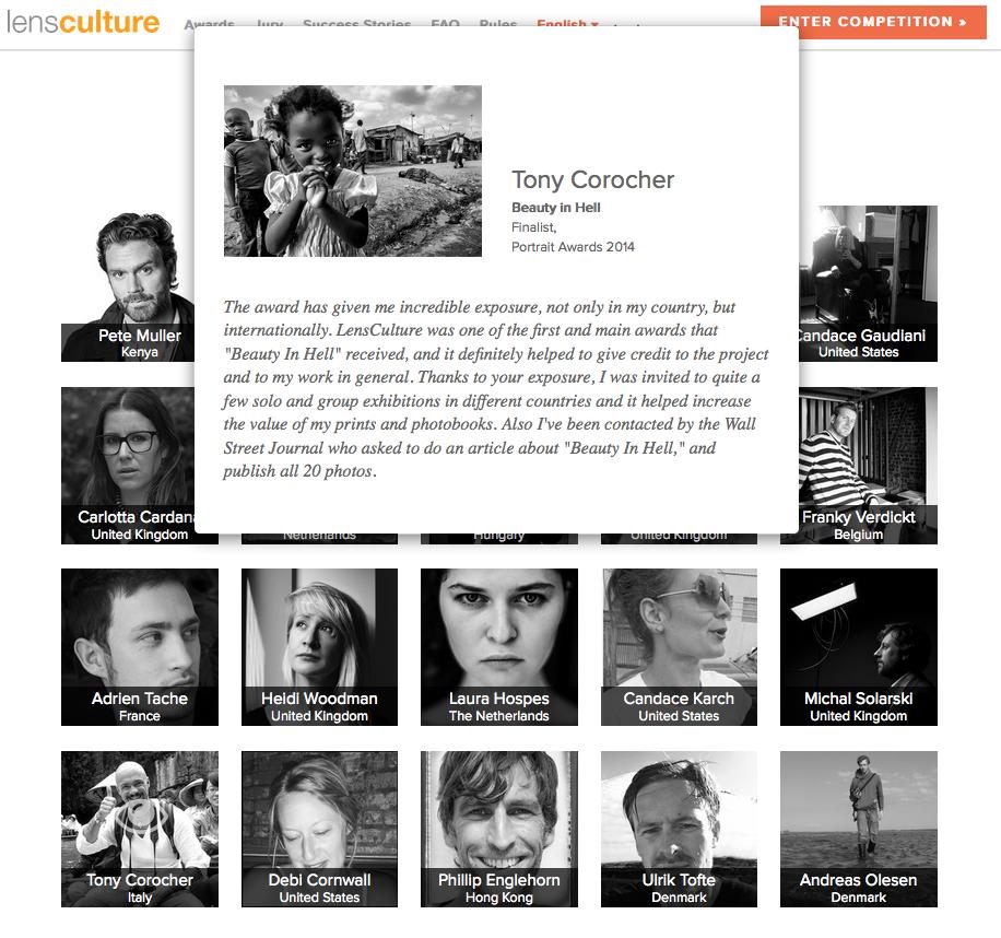 lensculture success stories Tony Corocher