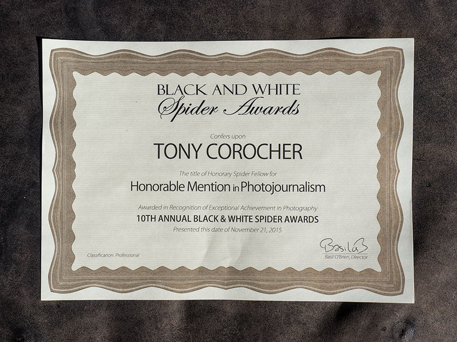 Black & White Spider Awards - Tony Corocher
